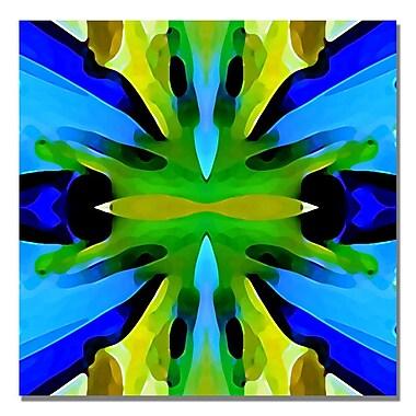 Trademark Fine Art Amy Vangsgard 'Paradise BLue and Green' Canvas Art