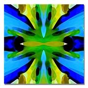 Trademark Fine Art Amy Vangsgard 'Paradise BLue and Green' Canvas Art 18x18 Inches