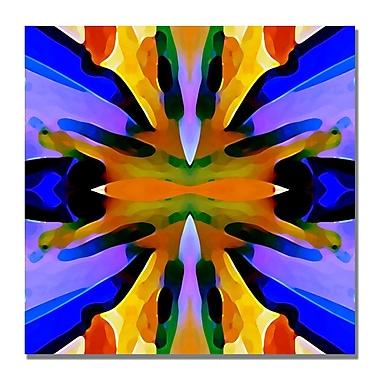 Trademark Fine Art Amy Vangsgard 'Paradise Blue and Yellow' Canvas Art