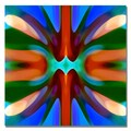 Trademark Fine Art Amy Vangsgard 'Tree Light Symmetry Blue Green' Canvas Art