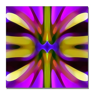 Trademark Fine Art Amy Vangsgard 'Tree Light Symmetry Magenta and Green' Canvas