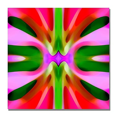 Trademark Fine Art Amy Vangsgard 'Tree Light Symmetry Pink and Green' Canvas