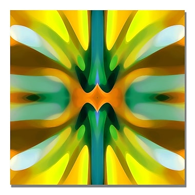 Trademark Fine Art Amy Vangsgard 'Tree Light Symmetry Yellow' Canvas 18x18 Inches