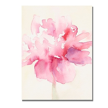 Trademark Fine Art Beverly Brown 'Pink Peony' Canvas Art