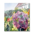 Trademark Fine Art Beverly Brown 'Purple Blossoms Monets Garden' Canvas Ar