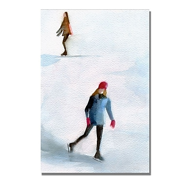 Trademark Fine Art Beverly Brown 'Two Girls Ice Skating' Canvas Art