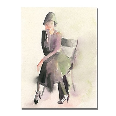 Trademark Fine Art Beverly Brown 'Woman in Cloche Hat' Canvas Art