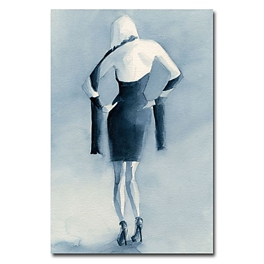 Trademark Fine Art Beverly Brown 'Blue Dress Back' Canvas Art 16x24 Inches
