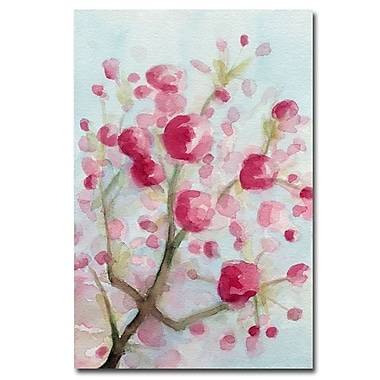 Trademark Fine Art Beverly Brown 'Cherry Blossoms' Canvas Art 30x47 Inches