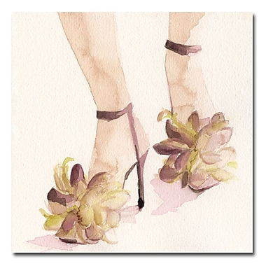Trademark Fine Art Beverly Brown 'Mauve Floral Shoes' Canvas Art 35x35 Inches