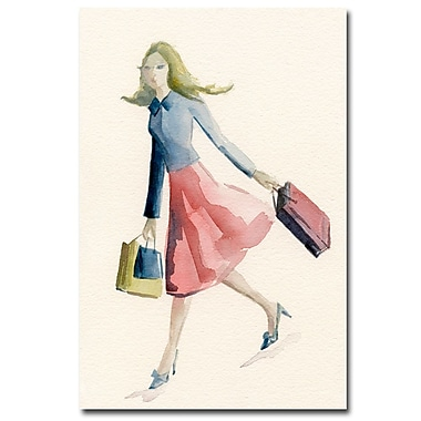 Trademark Fine Art Beverly Brown 'Woman Shopping-Blue Jacket' Canvas Art