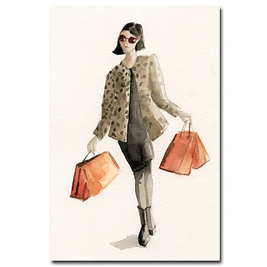 Trademark Fine Art Beverly Brown 'Woman Shopping-Leopard Print' Canvas Art 22x32 Inches