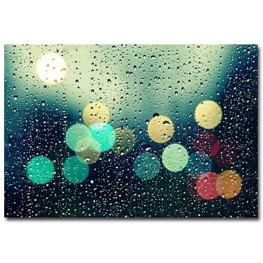 Trademark Fine Art Beata Czyzowska Young 'Rainy City' Canvas Art 22x32 Inches