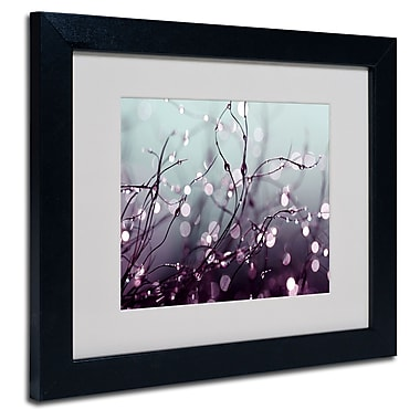 Trademark Fine Art Beata Czyzowska Young 'Somewhere Over the Rainbow' Matted Art Black Frame 11x14 Inches