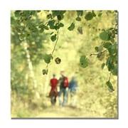 Trademark Fine Art Beata Czyzowska 'A Walk to Remember' Canvas Art 18x18 Inches