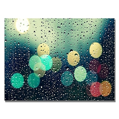 Trademark Fine Art Beata Czyzowska 'Rainy City' Canvas Art 30x47 Inches