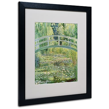 Trademark Fine Art Claude Monet 'The Waterlily Pond-Pink Harmony 1899' M Black Frame 16x20 Inches