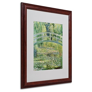 Claude Monet 'The Waterlily Pond-Pink Harmony 1899' Matte - 16x20 Inches - Wood Frame