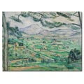 Trademark Fine Art Paul Cezanne 'Montagne Sainte-Victorie' Canvas Art