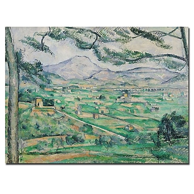 Trademark Fine Art Paul Cezanne 'Montagne Sainte-Victorie' Canvas Art 24x32 Inches