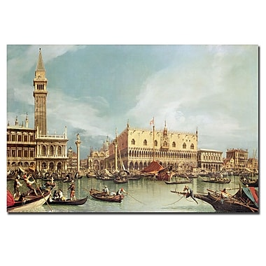 Trademark Fine Art Canaletto 'The Molo, Venice' Canvas Art 14x19 Inches