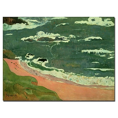 Trademark Fine Art Paul Gaugin 'Beach at Le Pouldu 1889' Canvas Art 24x32 Inches