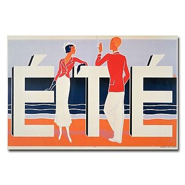 Trademark Fine Art M.E. Caddy 'Ete 1925' Canvas Art