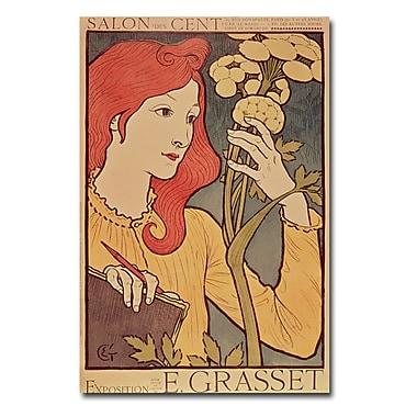 Trademark Fine Art Eugene Grasset 'Salon de Cent 1894' Canvas Art 16x24 Inches