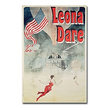 Trademark Fine Art Jules Cheret 'Leona Dare 1890' Canvas Art