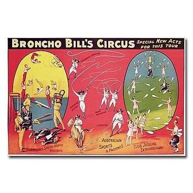 Trademark Fine Art Broncho Bill's Circurs Brimingham 1890s' Canvas Art