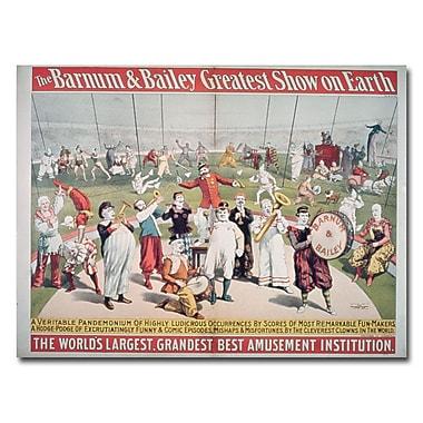 Trademark Fine Art Barnum and Bailey Greatest Show on Earth' Canvas Art