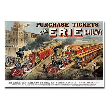 Trademark Fine Art N.Currier and JM Ives 'Erie Railway Homesville' Canvas Art 22x32 Inches