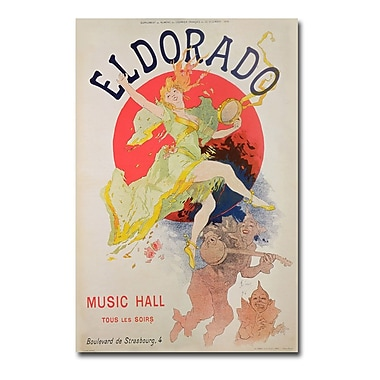 Trademark Fine Art Jules Cheret 'El Dorado 1836' Canvas Art