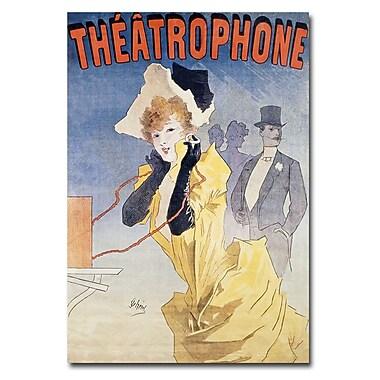 Trademark Fine Art Jules Cheret 'Theatrophone' Canvas Art