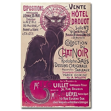Trademark Fine Art Theophile Steinlen 'Collection du Chat Noir' Canvas Art