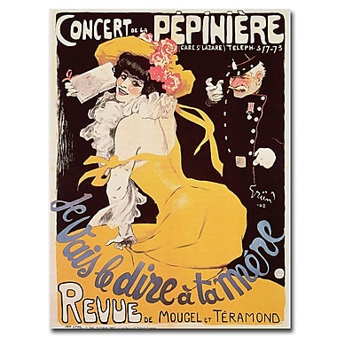 Trademark Fine Art Concert de la Pepiniere 1902' Canvas Art