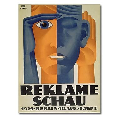 Trademark Fine Art Lucian Bernard 'Reklameschau 1929' Canvas Art