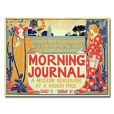 Trademark Fine Art Henri Meunier 'Morning Journal' Canvas Art