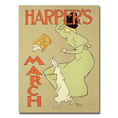 Trademark Fine Art Harper's Magazine March Edition 1894' Canvas Art
