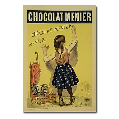 Trademark Fine Art Firmin Bouisset 'Menier Chocolate 1893' Canvas Art 22x32 Inches