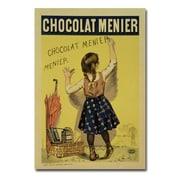 Trademark Fine Art Firmin Bouisset 'Menier Chocolate 1893' Canvas Art 16x24 Inches