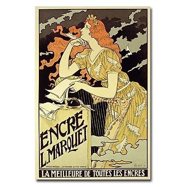 Trademark Fine Art Eugene Grasset 'Marquet Ink 1892' Canvas Art 16x24 Inches