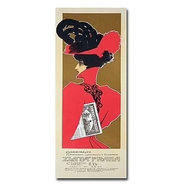 Trademark Fine Art Zlata Praha Prague' Canvas Art 18x47 Inches