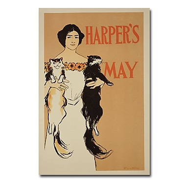 Trademark Fine Art Edward Penfield 'Harper's Magazine May 1897' Canvas