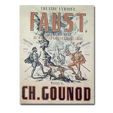 Trademark Fine Art Faust Opera 1875' Canvas Art