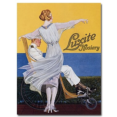 Trademark Fine Art Coles Phillips 'Luzite Hoisery Vogue Magazine' Canvas Art