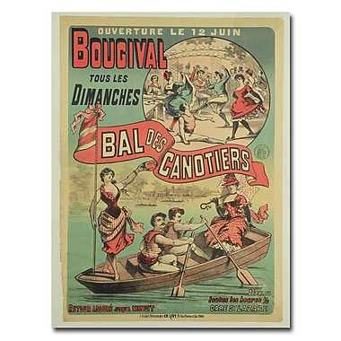 Trademark Fine Art Le Bal des Canotiers at Bougival 1875' Canvas Art