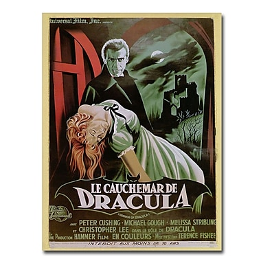 Trademark Fine Art 'The Horror of Dracula' Canvas Art