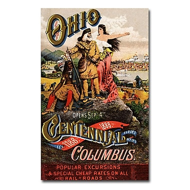 Trademark Fine Art 'Ohio Central Exposition' 1888' Canvas Art 22x32 Inches