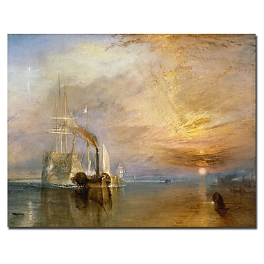 Trademark Fine Art Joseph Turner 'The Fighting Temeraire 1839' Canvas Art 14x19 Inches